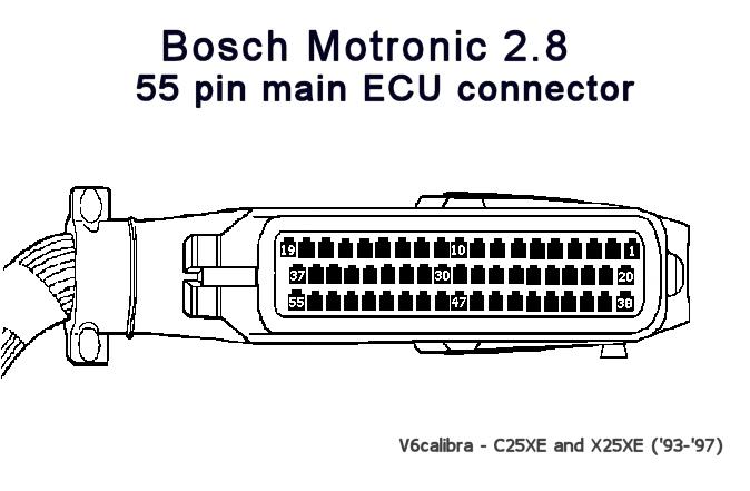 calibra v6   bosch motronic 2 8 ecu info  u0026 fault codes